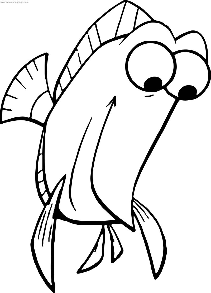 Disney Finding Nemo Tall Fish Coloring Pages