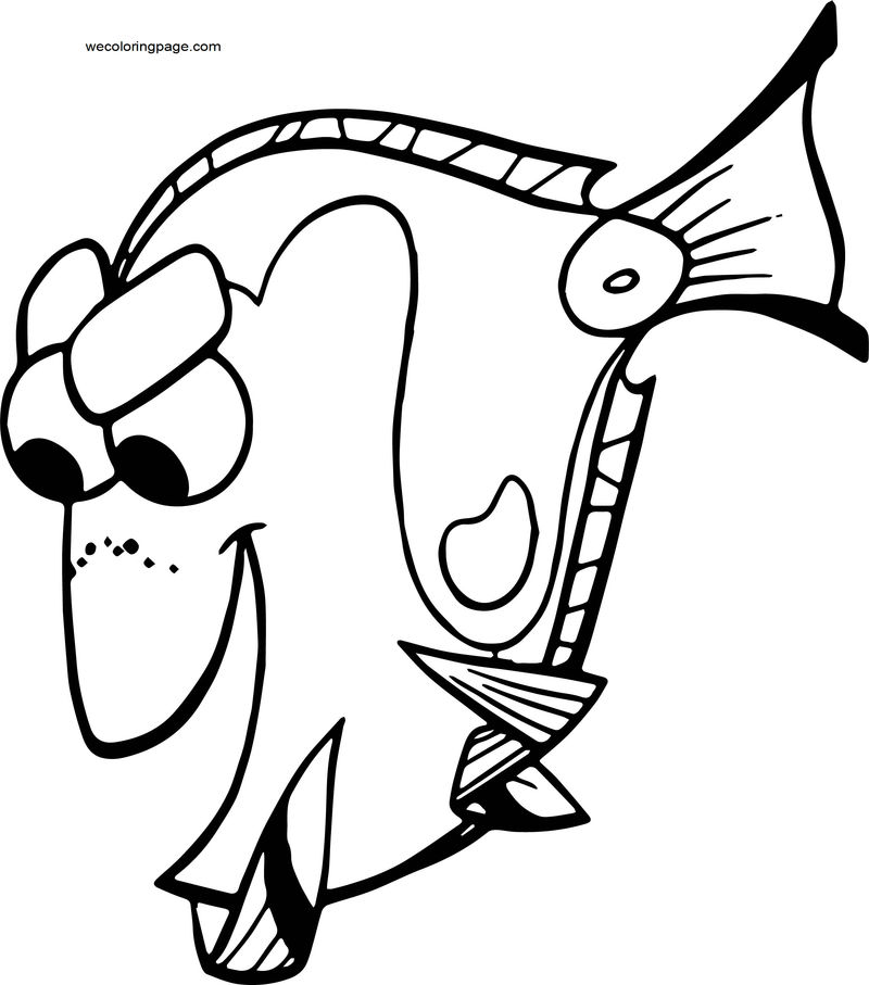 Disney Finding Nemodory Coloring Pages