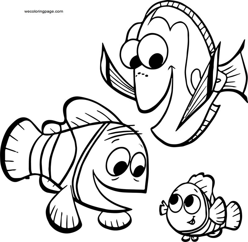 Disney Finding Nemodory Nemo Marlin Coloring Pages