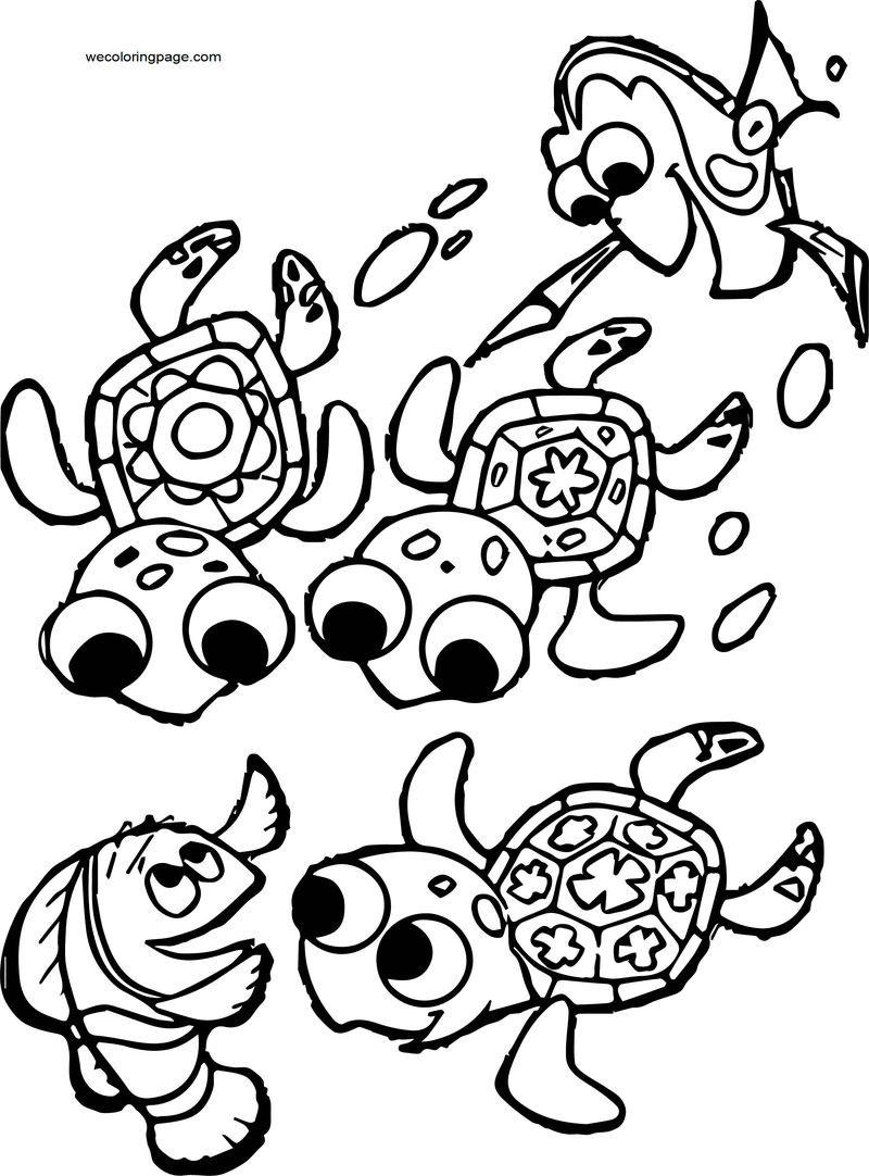 Disney Finding Nemofinding Nemo Coloring Pages