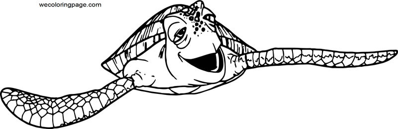 Disney Finding Nemofinding Nemo Crush Coloring Pages