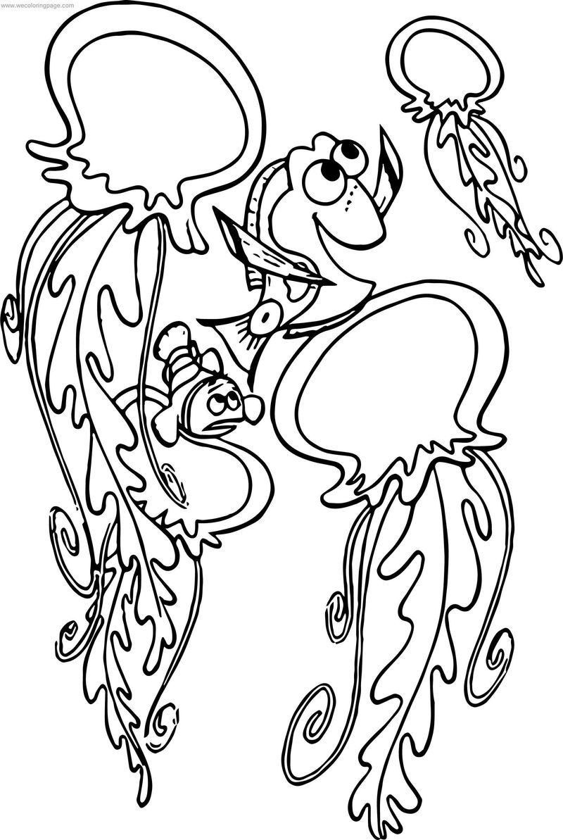 Disney Finding Nemojellyfish Coloring Pages
