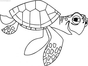 Disney finding nemonemo crush coloring pages