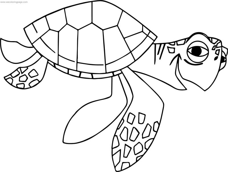 nemo crush coloring pages - photo#25