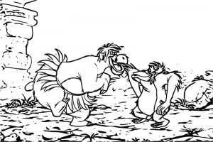 Disney jungle book coloring page 04