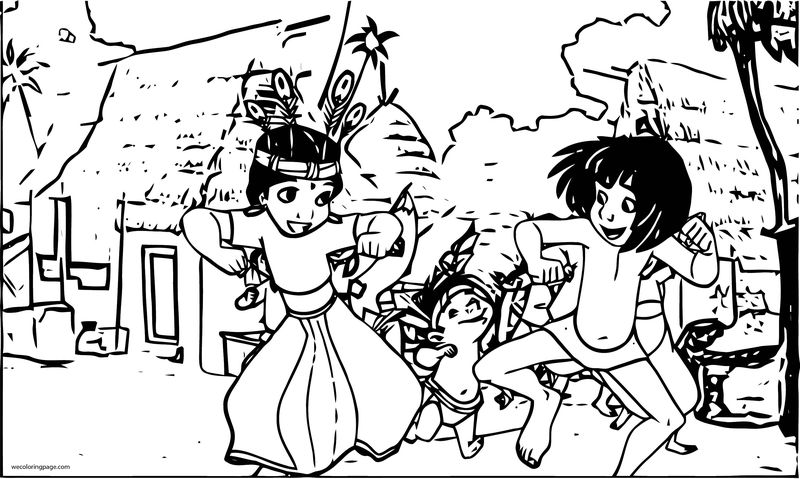 Disney Jungle Book Coloring Page 21