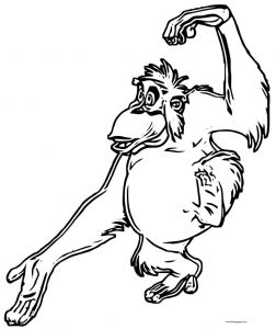 Disney jungle book coloring page 30