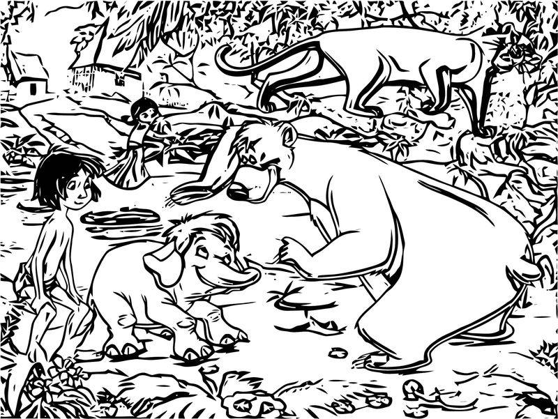 Disney Jungle Book Coloring Page 52
