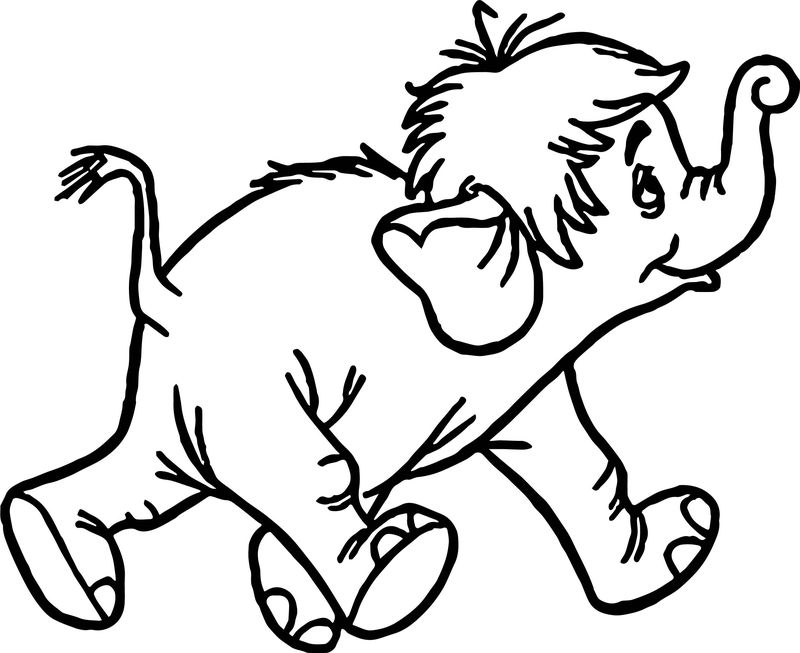 Disney Jungle Book Elephant Coloring Page