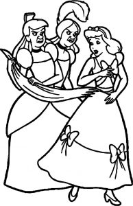 Disney lady tremaine anastasia drizella and lucifer coloring page