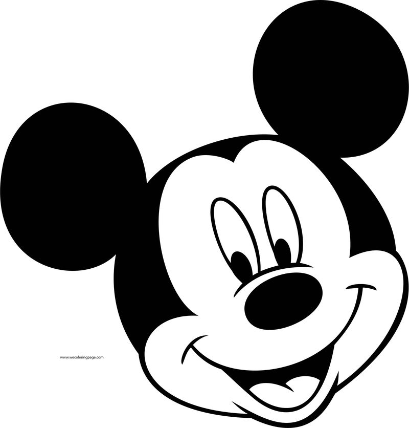 Disney Mickey Face Coloring Page