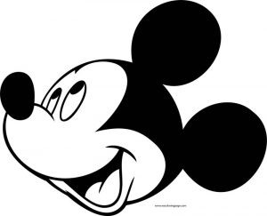 Disney mickey look up coloring page