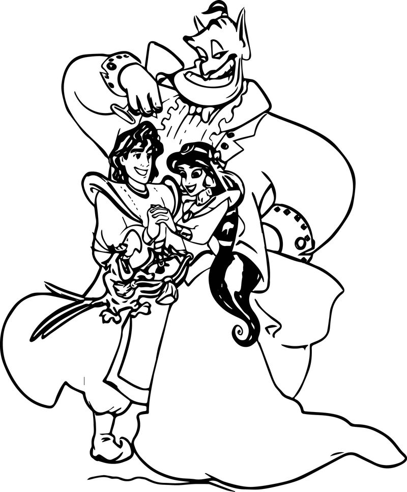 Disney Posters Aladdin Coloring Page