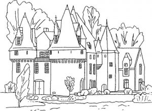Disney princess castle coloring pages1