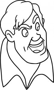 Disney the adventures brom bones face coloring pages