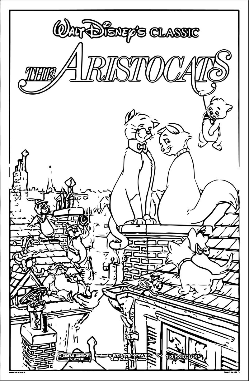 Disney The Aristocats Coloring Page 197