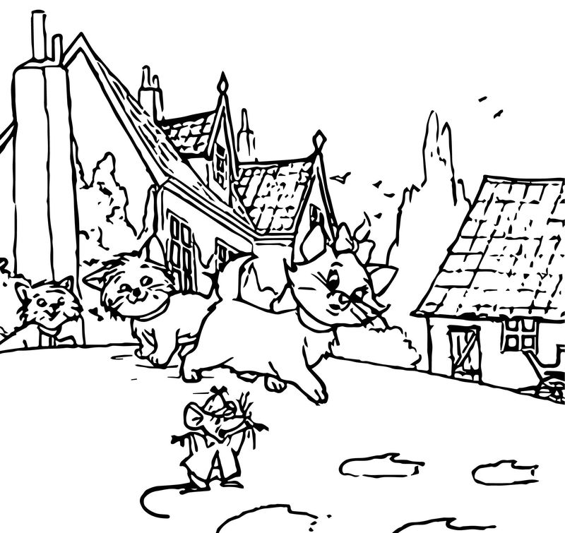 Disney The Aristocats Coloring Page 215