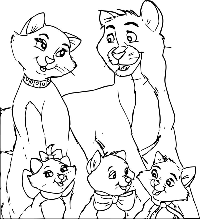 Disney The Aristocats Coloring Page 223