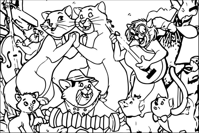 Disney The Aristocats Coloring Page 237