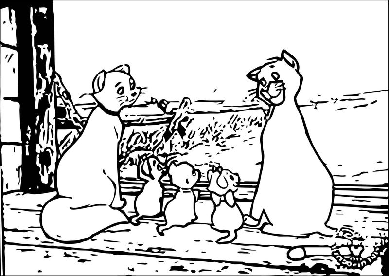 Disney The Aristocats Coloring Page 248