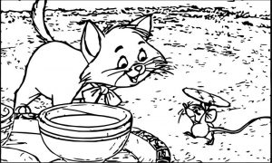 Disney the aristocats mouse coloring page