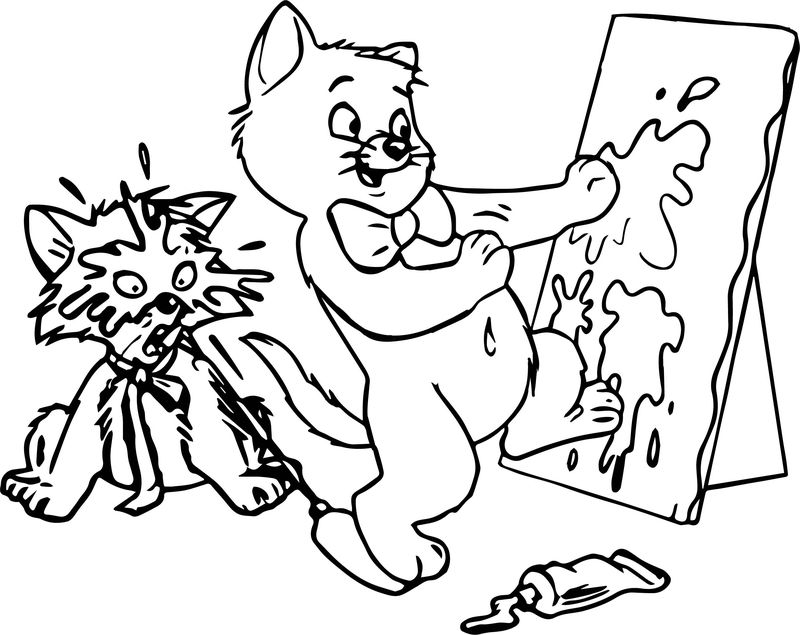 Disney The Aristocats Paint Coloring Page Coloring Sheets