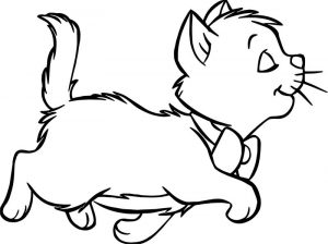 Disney the aristocats walking coloring page