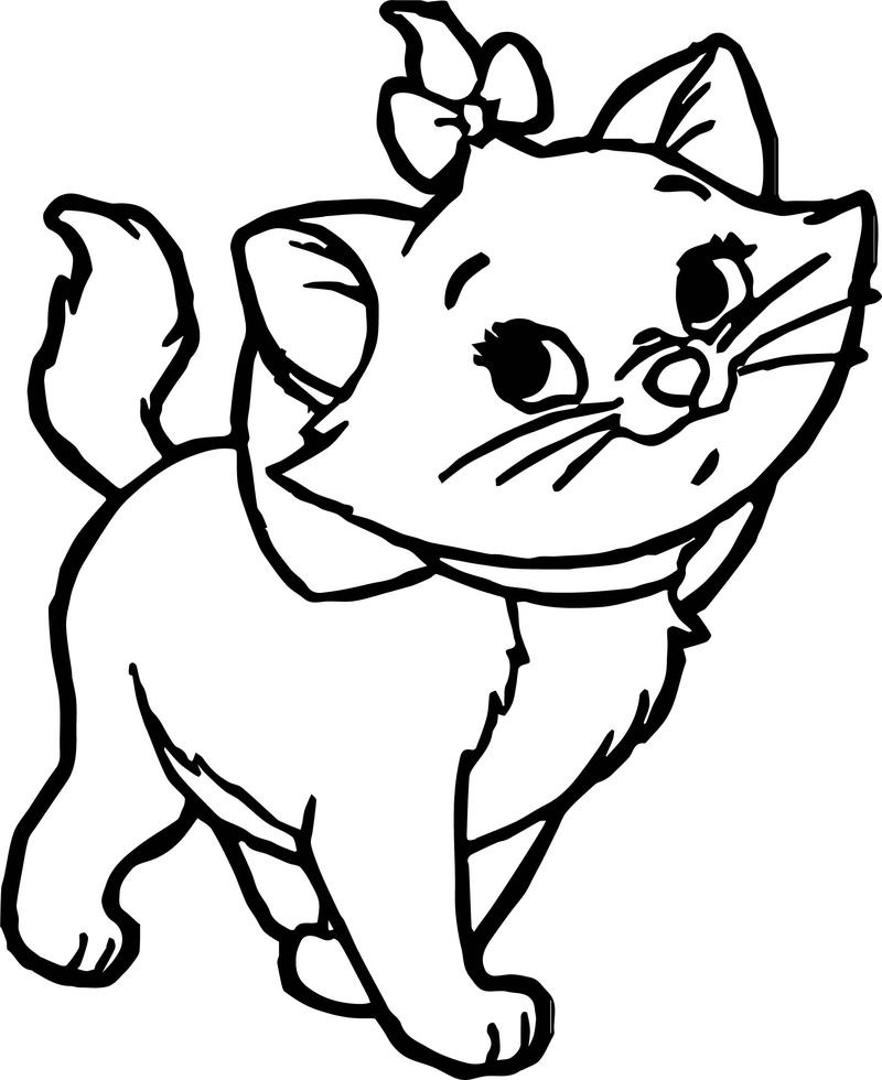 Disney The Aristocats Walking Coloring Pages