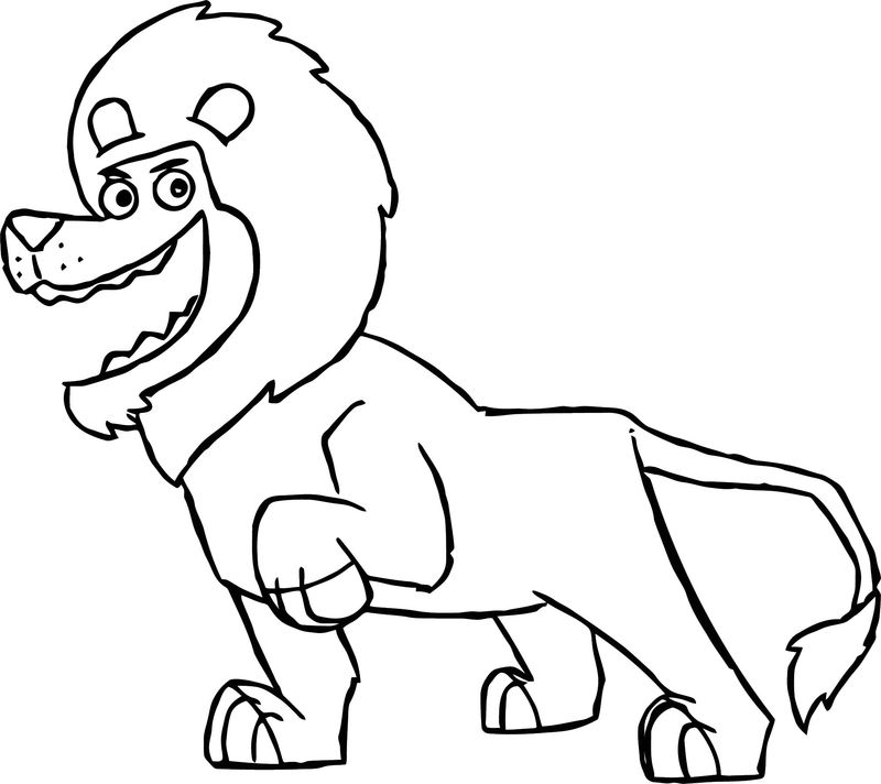 Disney The Wild Animal Lion Happy Coloring Pages