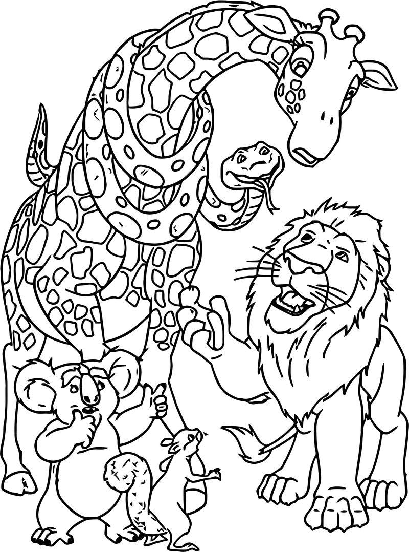 Disney The Wild Coloring Pages 05