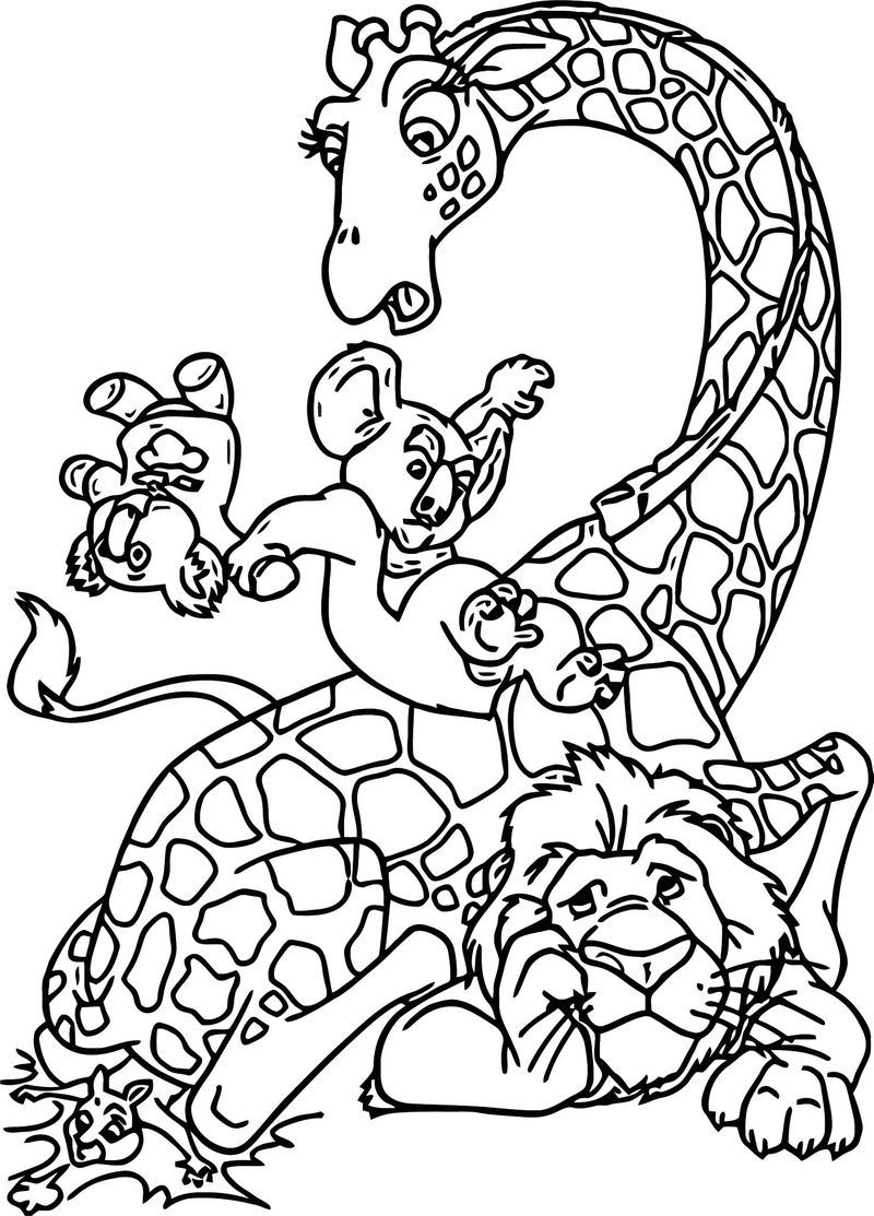 Disney The Wild Coloring Pages 07
