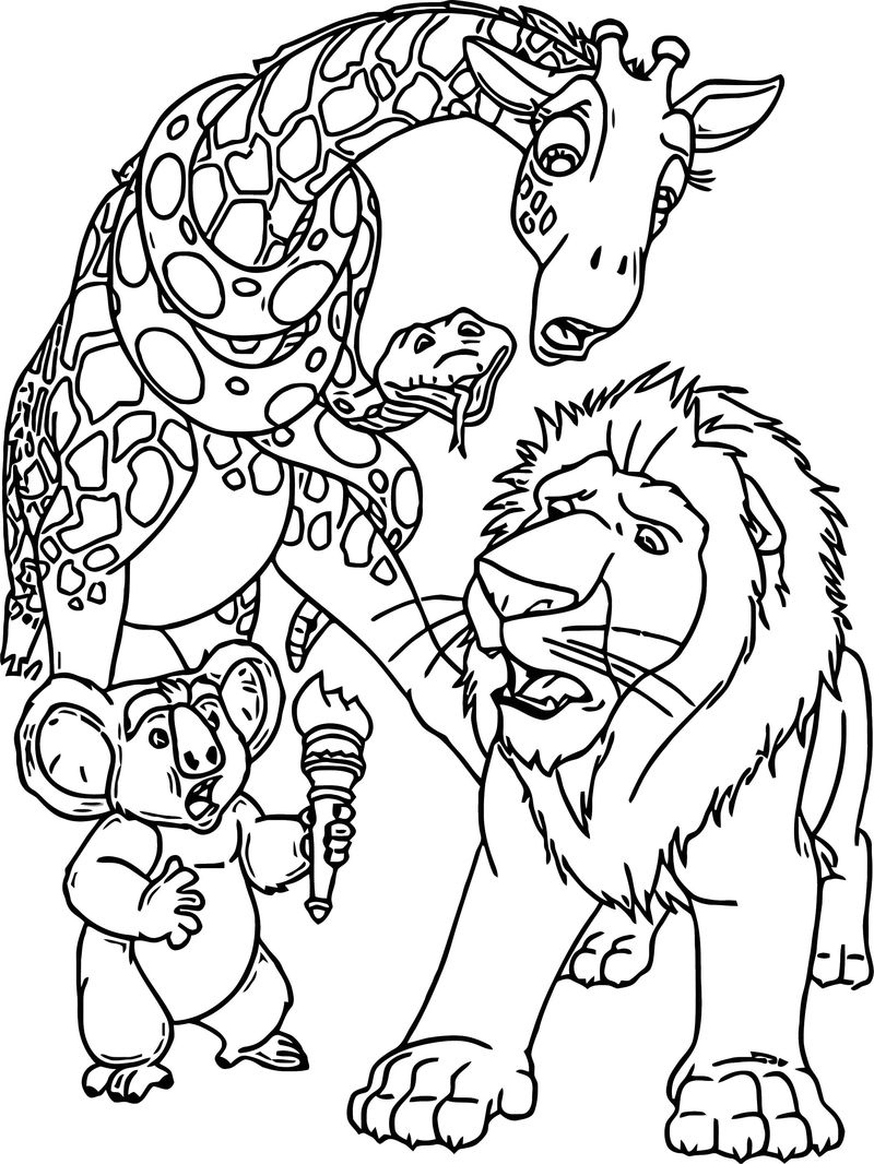 Disney The Wild Coloring Pages 21