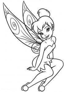 Disney tinkerbell fairy coloring page