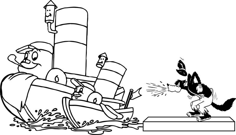 Disney Wolf And Ship Toot Coloring Page