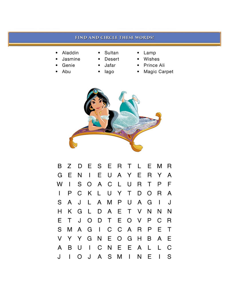 Disney Word Searches Activity