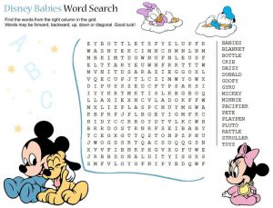 Disney word searches babies