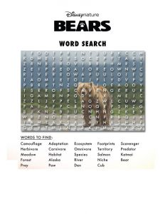 Disney word searches fun