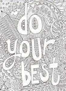 Do your best quote coloring page