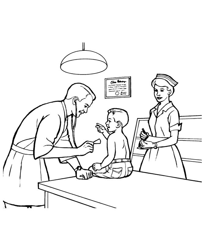 Doctor Activity Coloring Pages