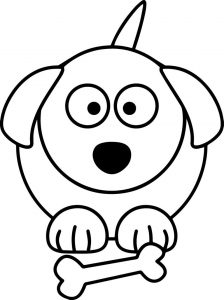 Dog cartoon coloring page