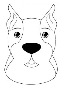 Dog coloring pages 038