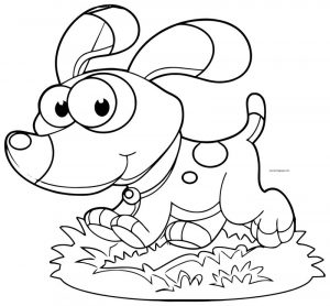Dog coloring pages 040