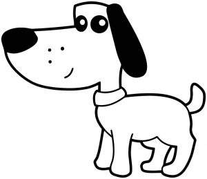 Dog coloring pages 057