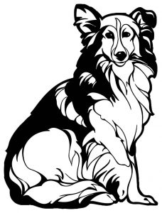 Dog coloring pages 058