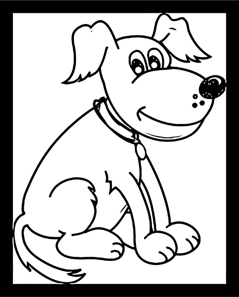 Dog Coloring Pages 125