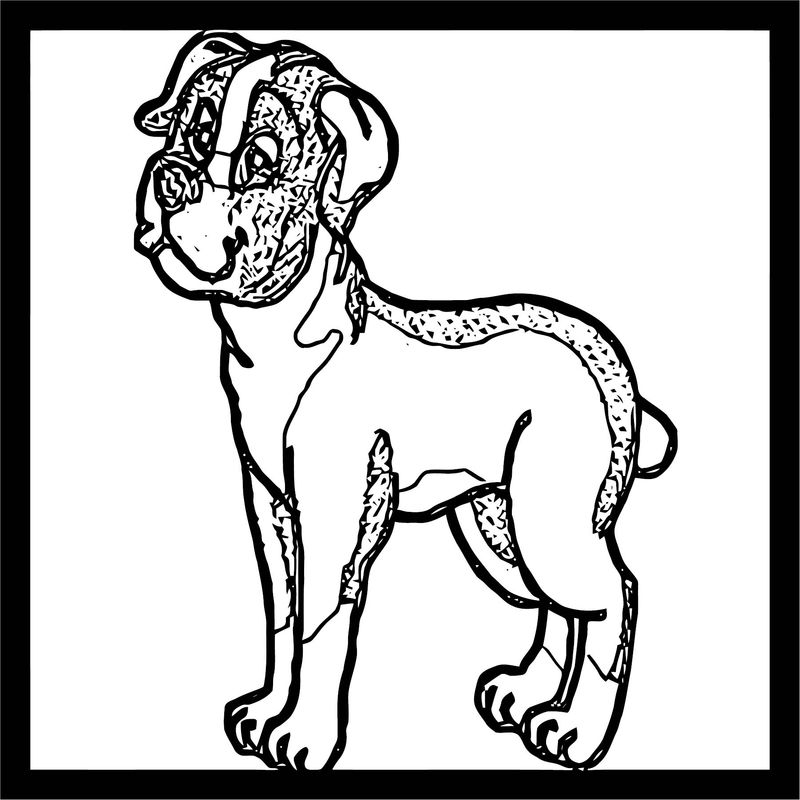 Dog Coloring Pages 168