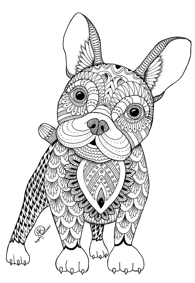 Dog Coloring Pages For Adults 001