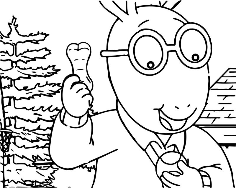 Dogs Best Friend Arthur Dog Treat Coloring Page
