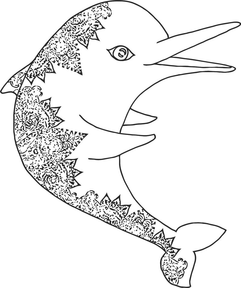Dolphin Coloring Page 029