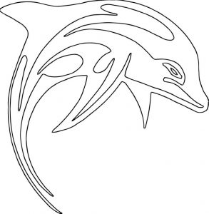 Dolphin coloring page 045